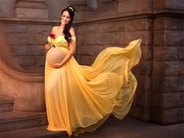 Фотограф сделала из беременных женщин диснеевских принцесс